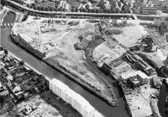 Le quartier de Bourg-l'Evêque en construction, 7 septembre 1964. Archives de Rennes 350 Fi 46, fonds Heurtier.